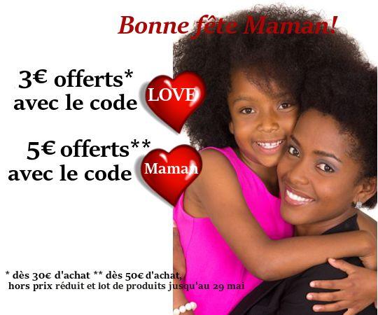 Dimanche 29 mai, nous fêterons nos mamans! Pour cette occasion, venez vite profiter de l'un de nos codes promos #Fêtedesmeres.