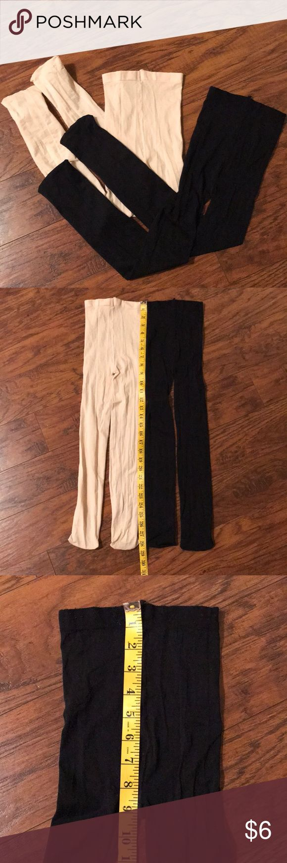 Set of 2 Girls Dance Tights (size unknown) Great condition, Set of 2 Girls Dance Tights, 1 light pink & 1 black, size unknown (see pictures for measurements) Unknown Costumes Dance