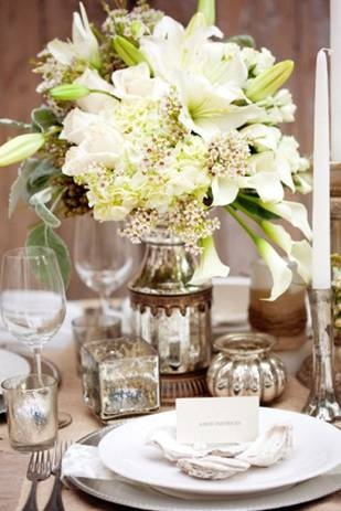 White Lily Reception Wedding Flowers Decor Flower Centerpiece Arrangement Add Pic Source On Comment And We Will Update