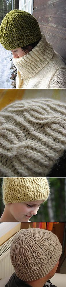 Вязание: шапка спицами «Lina». годиться для техники бриошь