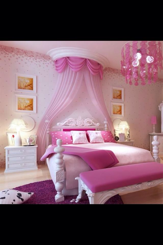 12 best images about daughter 39 s room on pinterest for Pink princess bedroom