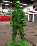 DIY Plastic Toy Soldier Costume - 2013 Halloween Costume Contest