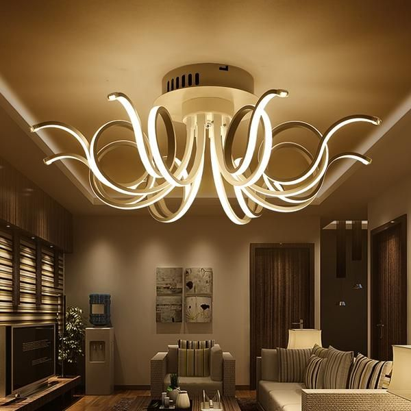Modern Chandelier Lighting Luminaire Fixtures Lights Dining Living Room Bedroom Led Chandeliers Lamp Ceiling Lights Ceiling Lights Living Room Crystal Ceiling Lamps