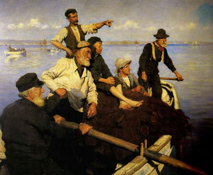 Stanhope Alexander Forbes  . The Seine Boat - if I won the lottery, I would buy this piece of art