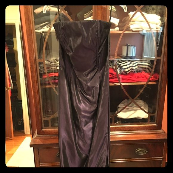 """Jessica McLintock purple formal dress Size 5, worn once. Beautiful dark shimmering purple. Comes with a matching shawl. I'm 5'1"""" and 115lbs and it fits me well. Jessica McClintock Dresses Prom"""