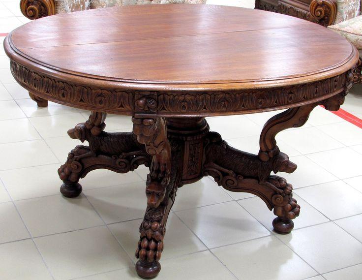 Старинный овальный стол