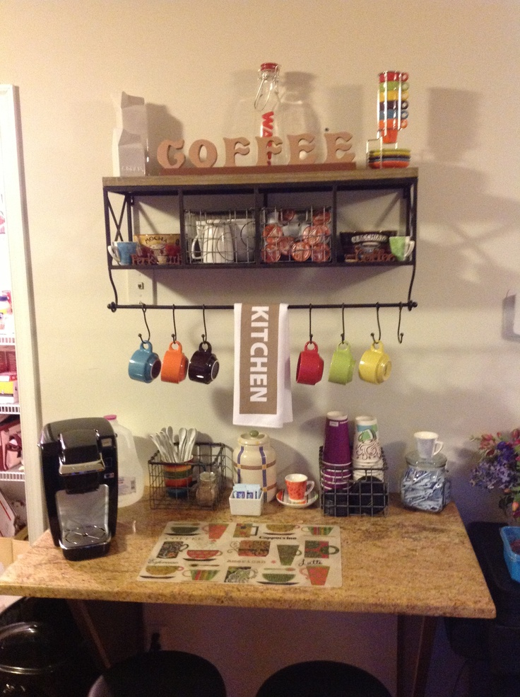 Coffee Bar Shelf From Hobby Lobby And Accessories From