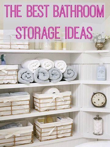 The Best Bathroom Storage Ideas | Love Chic Living