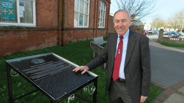 The braille board outlining Bideford's shipping history means people with sight difficulties can enjoy heritage trails.