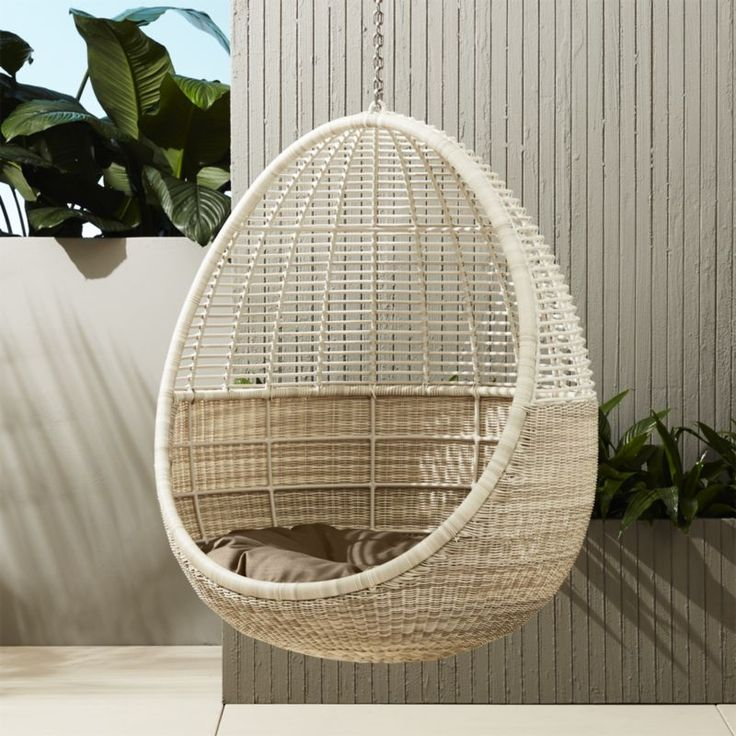 Pod Hanging Chair With Cushion. Pod ChairModern Outdoor ...