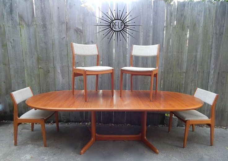 23 Best Dining Table Images On Pinterest  Danish Modern Medieval Enchanting Scandinavian Teak Dining Room Furniture Review
