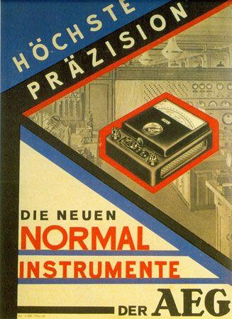 Poster designed by César Domela for AEG, 1928