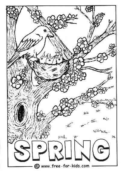 kids spring coloring pages - photo#46