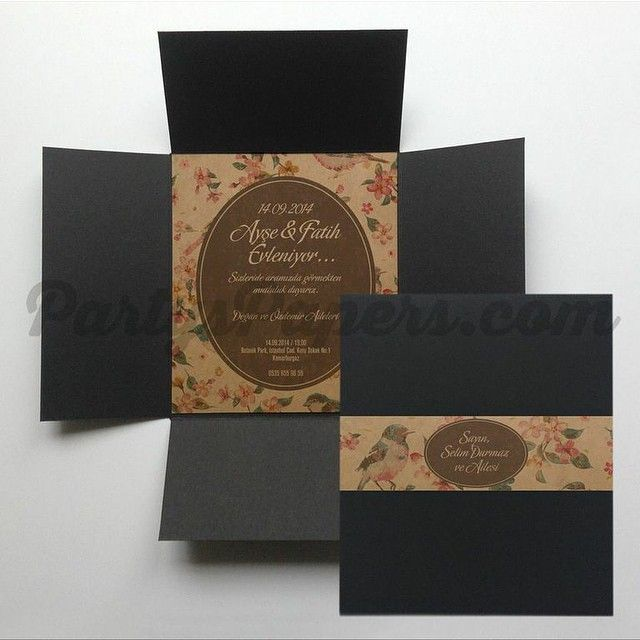 Invitation / Davetiye PartysPapers
