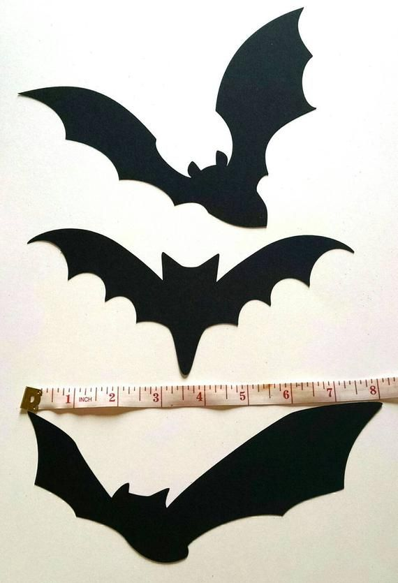 Paper Bat Cutouts 60 Piece Kit Halloween Silhouette Wall Decor