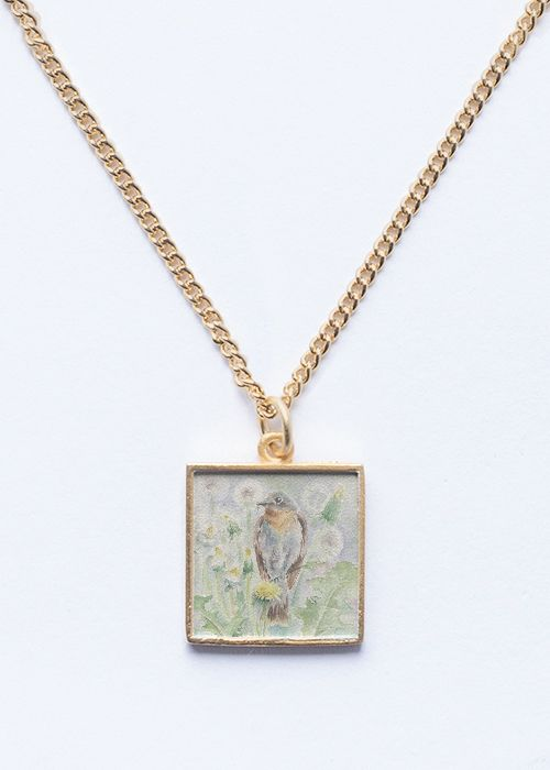 Spring Bird Pendant Glod / Silver jewelry #fashion #trend #wildlife #birds #jewelry