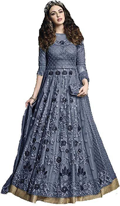 e40e0d63f Amazon.com  Ready Made Designer Indian Wear Anarkali Suit Party Wear Zoya 1  (Blue
