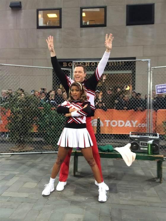 TODAY's Willie Geist and Tamron Hall as Spartan Cheerleaders | #SNLoween | #SNL | #HalloweenTODAY