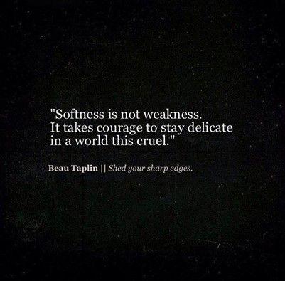 softness is not weakness