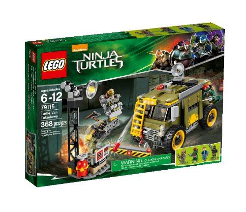 #LEGO Ninja Turtles 79115 Turtle Van Takedown Building Set LEGO Includes 4 minifigures with weapons: Vern, Foot Soldier, Raphael and Michelangelo. Turtle Van features a removable roof, computer and screen, 2 fold-out side flick missiles, 2 roof flick missiles, satellite dish, hook and a winch; 6-12 years http://www.amazon.com/dp/B00IRZT5GK/ref=cm_sw_r_pi_dp_D.0Cub1HM7YMP