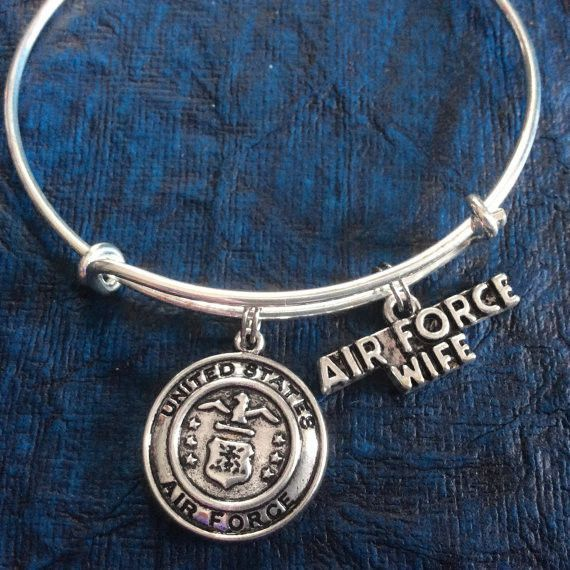 Meaningful Charm Bracelet; great gift idea! This can be sent directly to your intended with your personal message included. (Other Military Branches Available; please message me) One size fits most! M