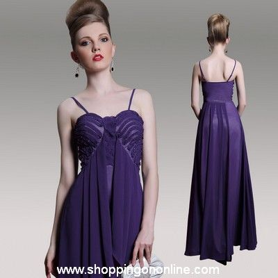 Purple Prom Dress - Empire Spaghetti Straps $149.60 (was $187) Click the link here to see more details http://shoppingononline.com/prom-dresses/purple-prom-dress-empire-spaghetti-straps.html #PurplePromDress #PurpleDress #Purple  #SexyPromDress #SexyDress #Dress #PromDress