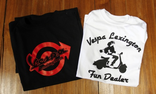 Vespa t-shirt!!!!  Like the red logo Lexington Dealer!