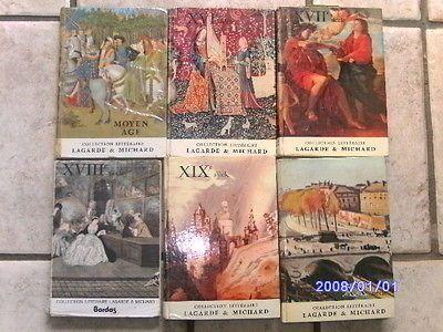 Lot-6-livre-LAGARDE-ET-MICHARD-complet-Moyen-age-XVI-XVII-XVIII-XIX-XX-francais
