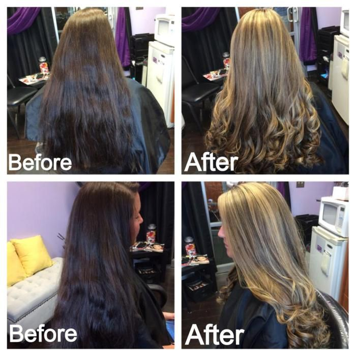 Before & after! Heavy highlight!