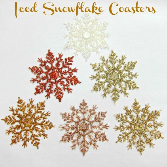Dollar Store Crafts » Blog Archive » Tutorial: Make Iced Snowflake Coasters