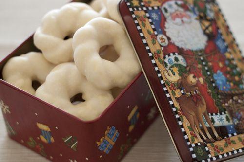 Lemon Glazed Christmas Wreath Cookies