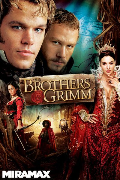 The Brothers Grimm, Wilhelm (Matt Damon) and Jacob (Heath Ledger), are dysfunctional schemers who go from town to town putting on shows that convince inhabitants they are getting rid of demons. After one such scam, a mysterious man called Cavaldi (Peter Stormare) brings them to a French general, who persuades them to battle the evil that has kidnapped 10 girls from a small village. During the investigation, the cynical Wilhelm and sensitive Jacob see things that point to real magic at work.