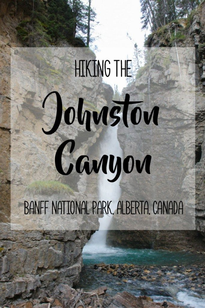Hiking Johnston Canyon in Alberta's Banff National Park   With beautiful waterfalls, caves, dense forests, amazing natural scenery and the deep canyon, Johnston Canyon is an incredible place to hike in Banff National Park! It is a popular hike that is eas