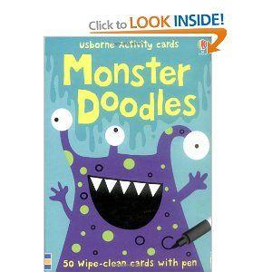 Monster Doodles (Usborne Activity Cards) - great for journeys