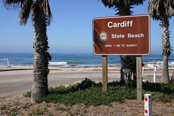 Cardiff Beach San Diego California.