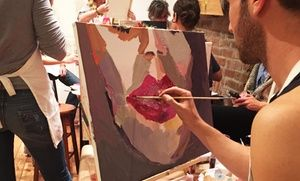 Festive BYOB classes encourage guests to create their own artwork while sipping glasses of wine
