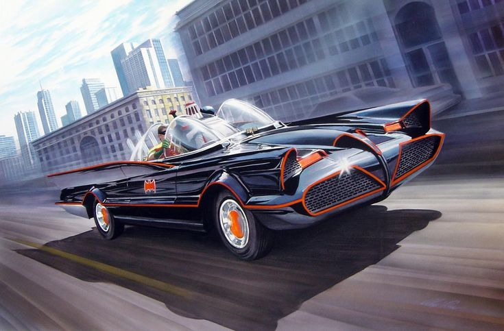 El antiguo Batmovil dibujado por el gran Alex Ross