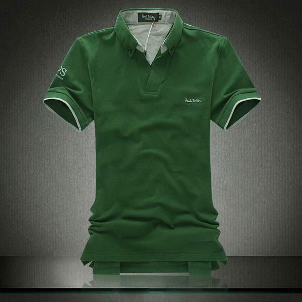 polo ralph lauren cheap Paul Smith London Casual Short Sleeve Men's Polo  Shirt Green http: