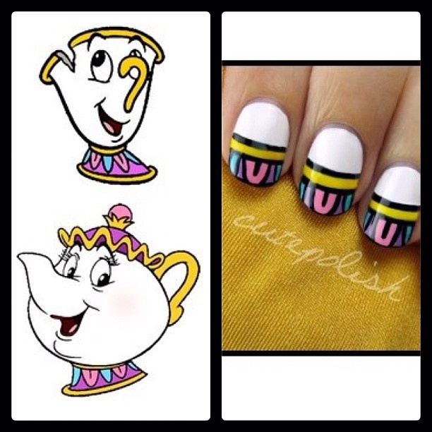 Cutepolish (youtube) Beauty and the Beast: Mrs. Potts and Chip! :D