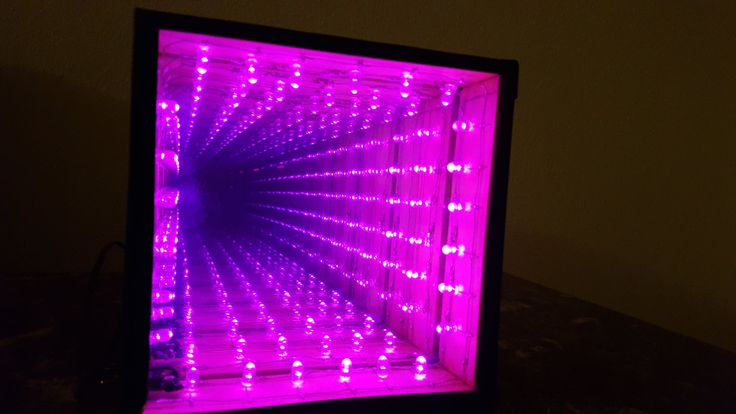 LED Infinity Mirror by BuildingandBlogging on Etsy