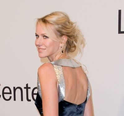 Naomi Watts flirty updo hairstyle