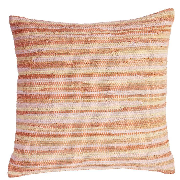 Sierkussen KAAT Rags Multi - NIEUWE COLLECTIE | Cushion KAAT | http://www.livengo.nl/beddengoed/sierkussens | #kussens #oranje #woonstijl #slaapkamer #livengo