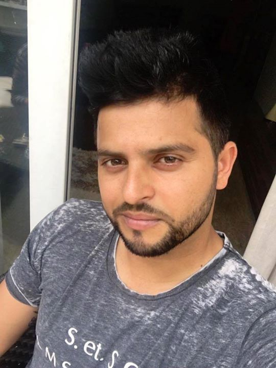 Suresh Raina in his new look - http://ift.tt/1ZZ3e4d