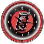 14 in. Portland Trail Blazers NBA Chrome Double Ring Neon Wall Clock, Multi