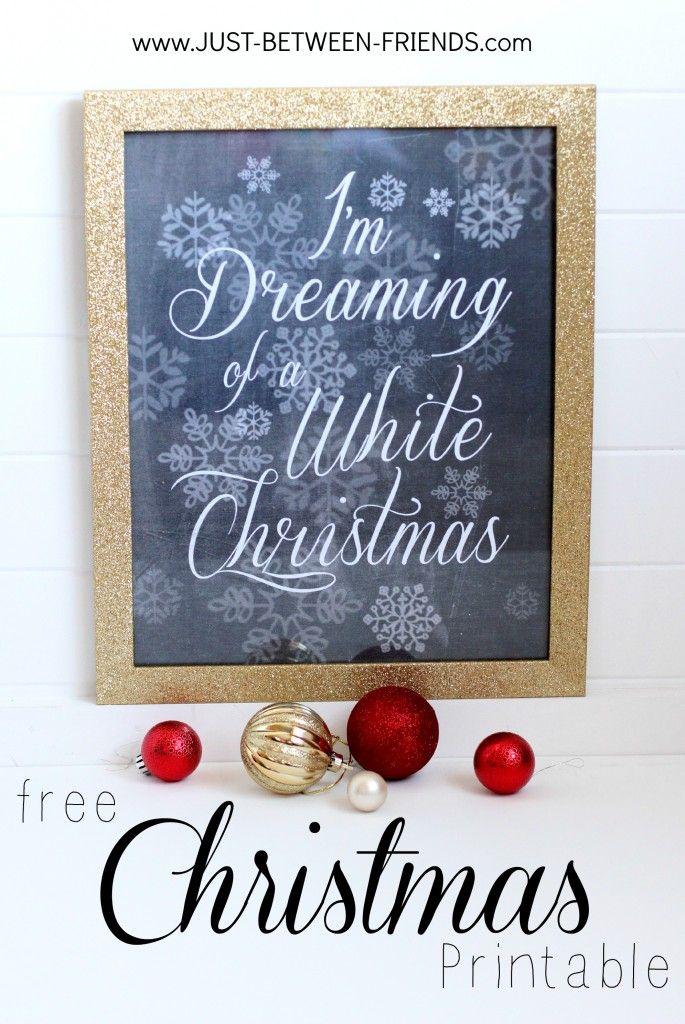 Just Between Friends: Free Christmas Printables