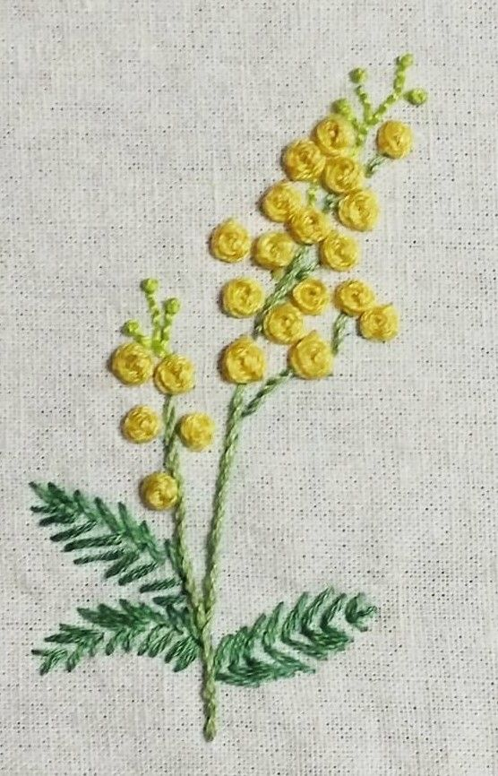 Embroidered flowers …