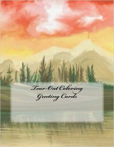 Tear Out Coloring Greeting Cards