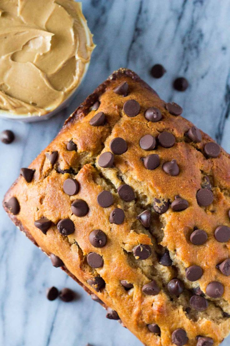 A super moist, flavorful & soft Peanut Butter Chocolate Chip Bread. Super easy to prepare - you'll love this new quick bread recipe.