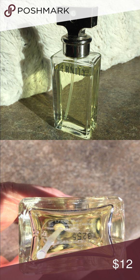 Calvin Klein Eternity Perfume Just below 1.7 fl oz. with some scuffs on bottle. Calvin Klein Other