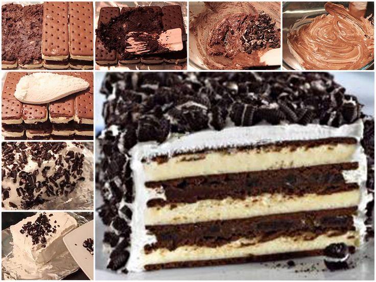 Oreo Icecream Cake-- the best one I have tried so far!!!!!!!!!!!!!!!!